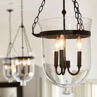 Vintage Pendant Lamps Retro American Country Loft Iron Pendant Light Glass Bucket Bar Warehouse Fixture Lighting