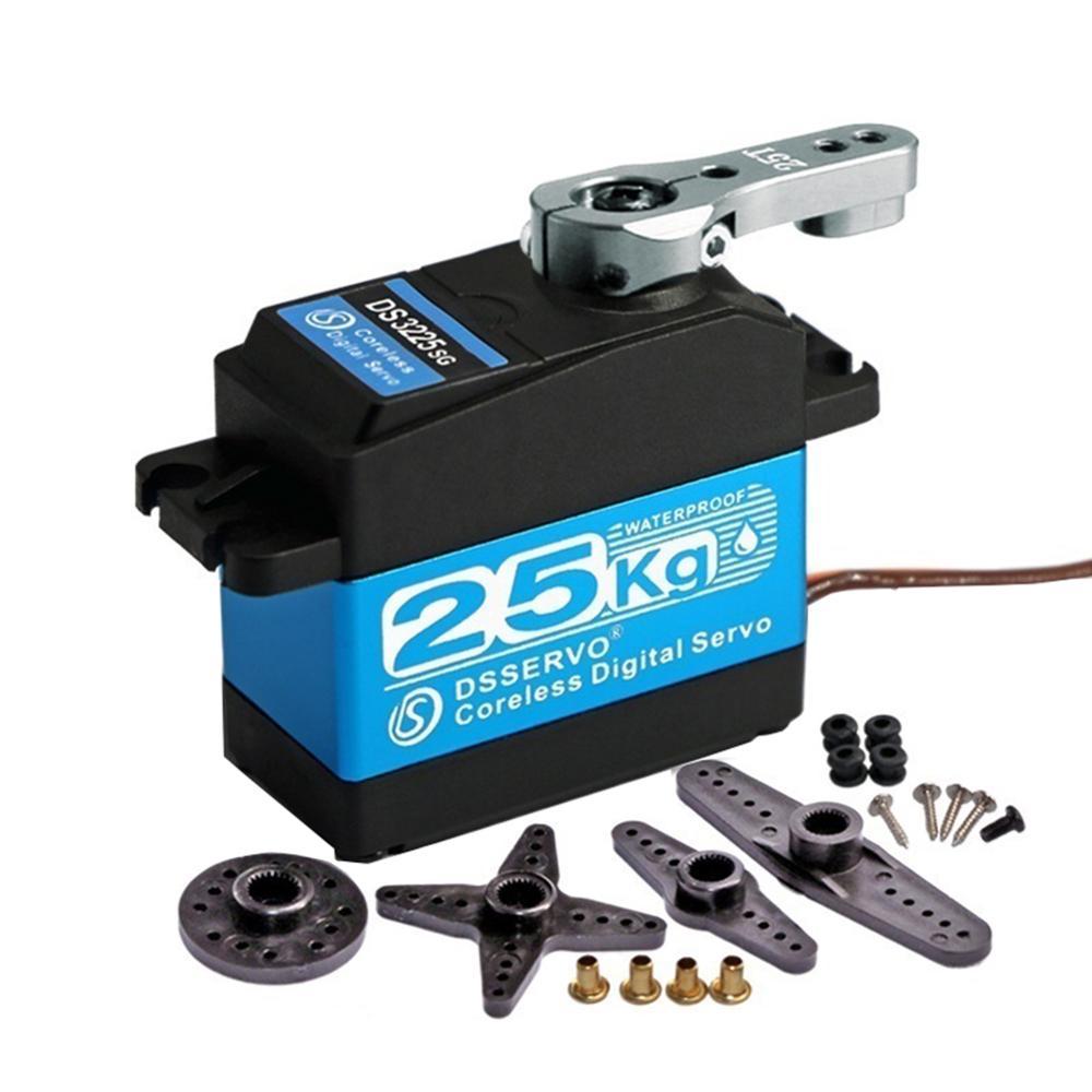 180 270 Degree DS3225 Servo Waterproof High Speed Stainless Steel Gear Coreless 25KG Digital Servo For 1/8 1/10 Scale RC Cars