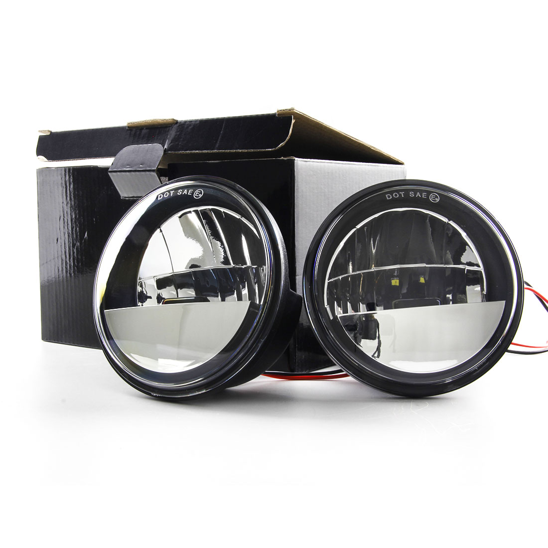 4.5 inch Round Fog Light LED Front 4 1/2 Auxiliary Spot Passing Driving Lamp Projecot Lights for Harley Davidson Daymaker