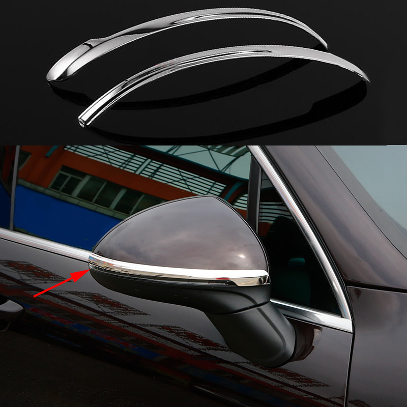 2X STAINLESS DOOR SIDE MIRROR COVER TRIM GARNISH For Porsche Cayenne 2011 2016