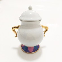 Hot Sale Cartoon Beauty And The Beast Tea Set Teapot Mrs Potts POT Chip Cup Mug Sugar Bowl  Pot Lovely Gift Drop Shipping