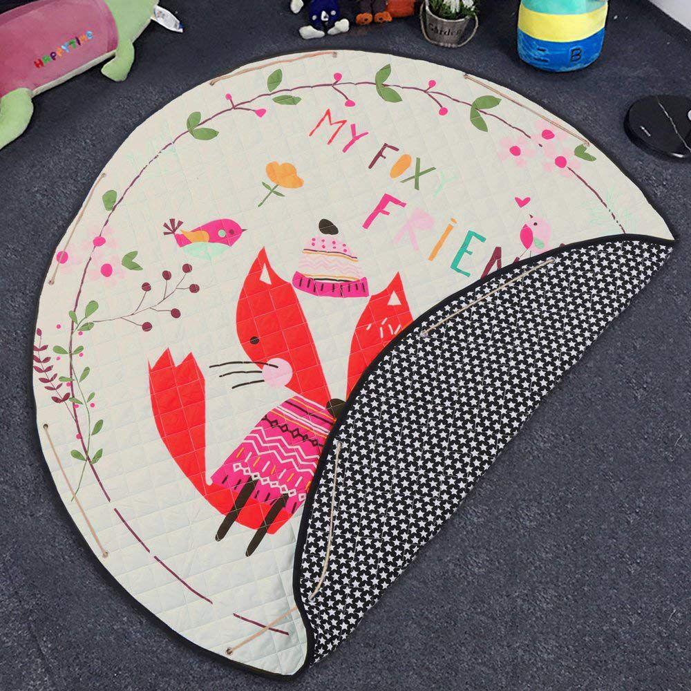 Nursery Rug Large: Round Rugs Baby Play Mat Toys Storage Organizer,Nursery