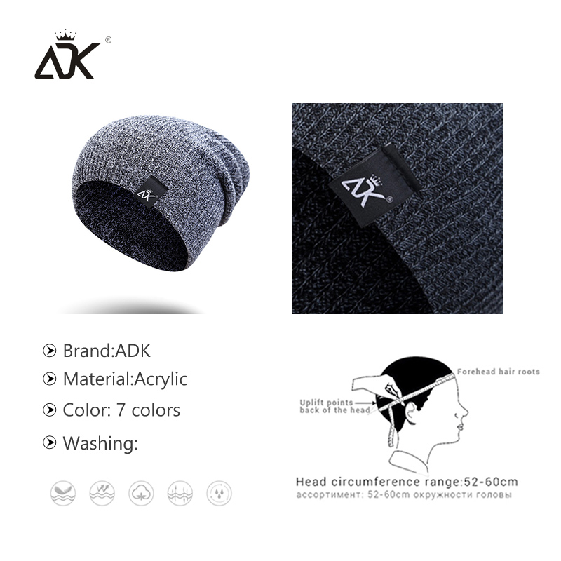 Mixed Color Baggy Beanies For Men Winter Cap Women's Outdoor Bonnet Skiing Hat Female Soft Acrylic Slouchy Knitted Hat For Boys 5