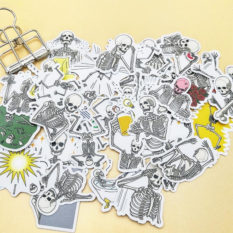 Купить с кэшбэком 20/40pcs Fun Man Skull Art Life Decoration Scrapbook Paper Sticker DIY Craft Sticker Photo Diary Decoration