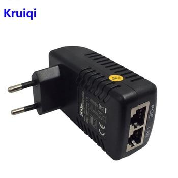 цена на Kruiqi POE Injector Splitter 48V 0.5A POE Wall Plug Ethernet Adapter for Surveillance CCTV IP Camera PoE Power Supply US EU Plug