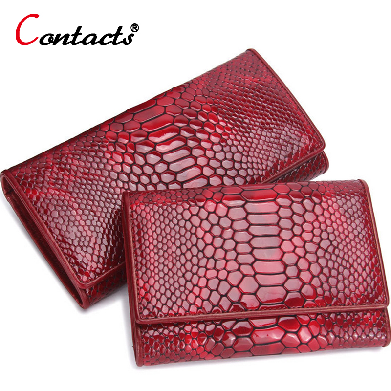 купить CONTACT'S Genuine Leather women Wallet female clutch bag ladies coin money purse Alligator card holder Organizer Phone Purse new недорого