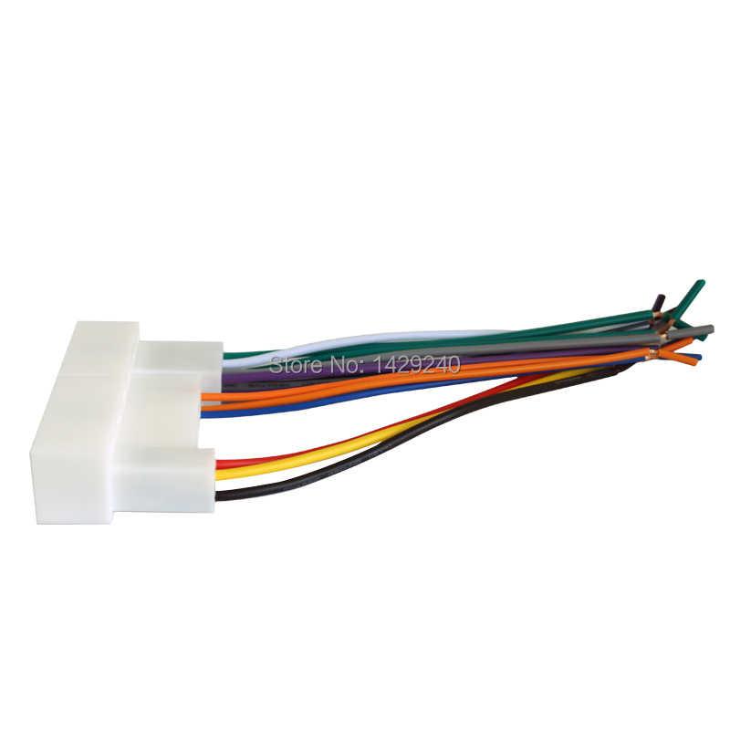 LEEWA רכב רדיו סטריאו חיווט לרתום מתאם תקע עבור יונדאי IX35/Elantra/סנטה פה/סונטה Aftermarket CD /DVD התקנה