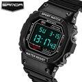 SANDA Reloj LED Digital Hombres de Primeras Marcas de Lujo Famosos Relojes Deportivos Relogio masculino Masculino Reloj Electrónico Digital-reloj Hodinky