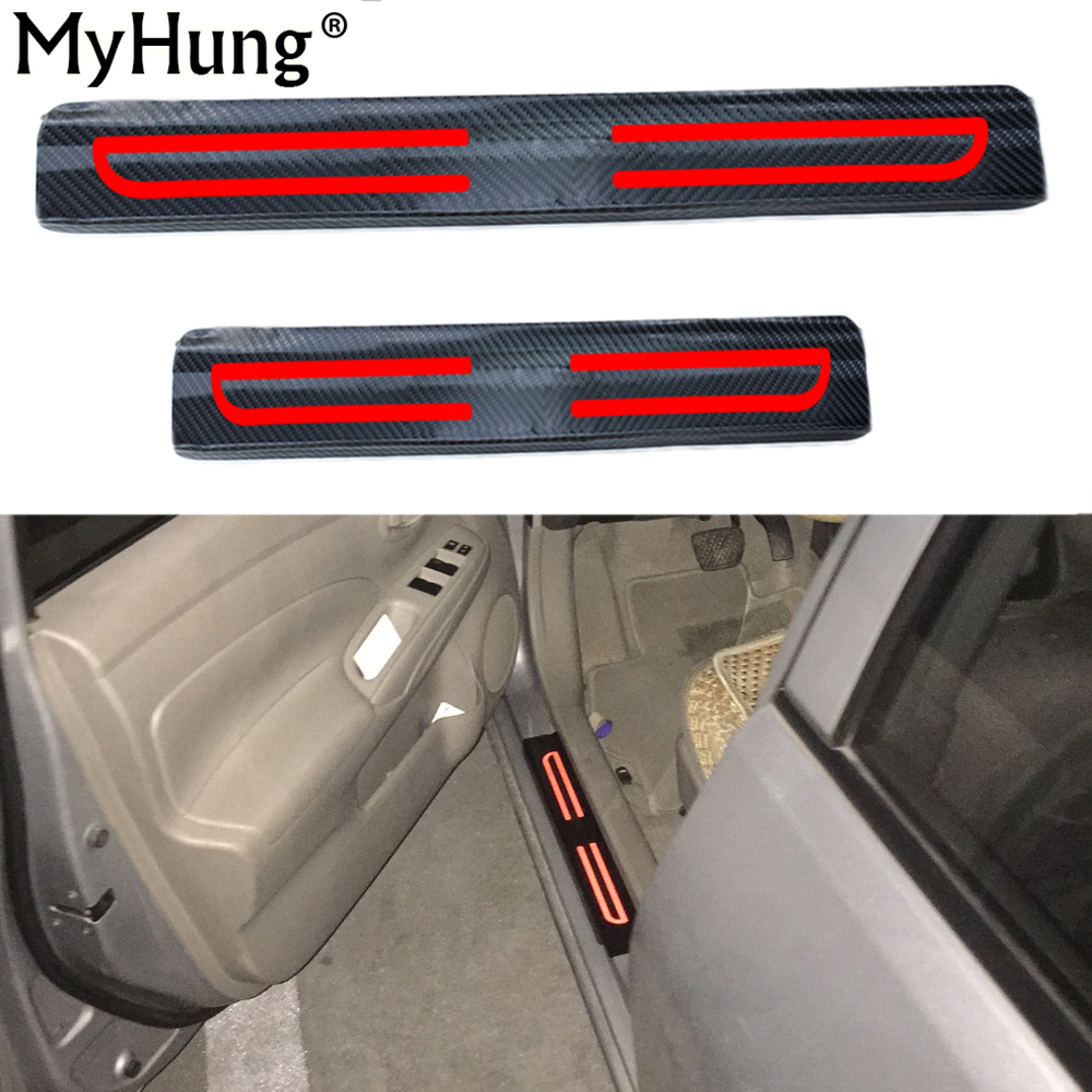 For Nissan Qashqai 2007 To 2016 4D Carbon Fiber Reflective Car Scuff Welcome Plate Sticker Door Sill Stickers Car-Styling 4Pcs