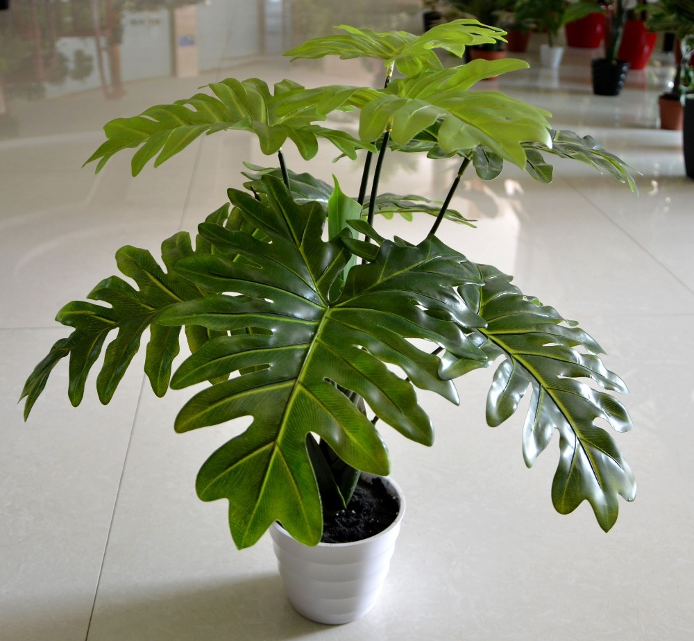 66cm latex artificial evergreen pachira plant tree in wedding home
