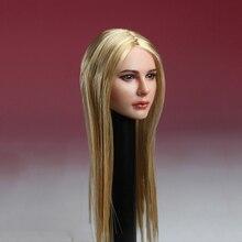 купить 1/6 Scale European Womens Girl Head Avril Head Sculpt Models for 12 Inches Figures Bodies Dolls по цене 2418.1 рублей