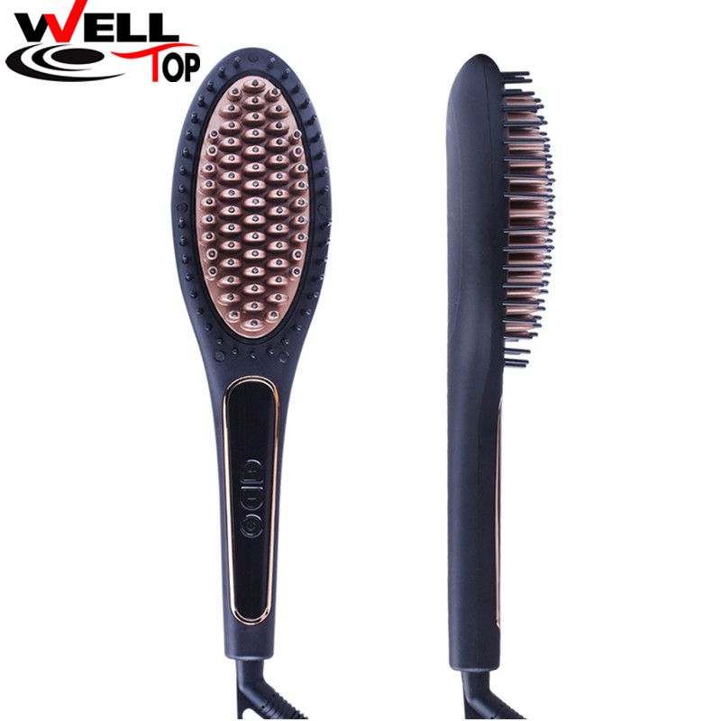 Perfect Styler Electric Hair Straightener LED Display Comb Ionic Steam Iron Hair Straightener Straightening Iron Brush magic hair straightening brush with led display