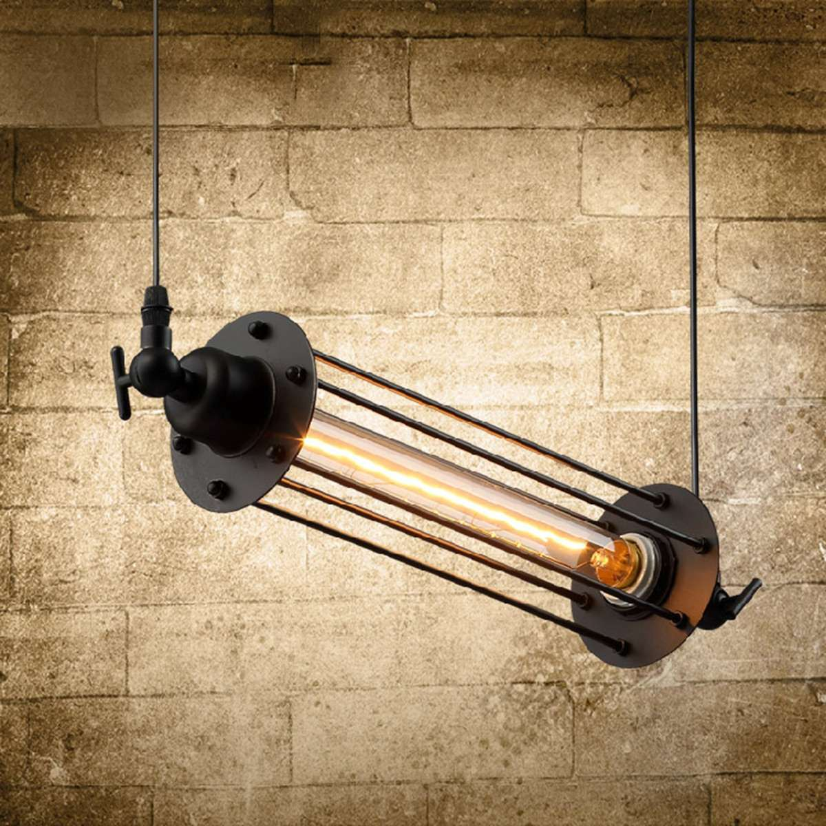 Industrial Retro Vintage Flute Ceiling Lamp E27 Hanging Pendant Light Cafe Bar Restaurant Indoor Lighting Decor AC 110-240V zg9048 pendant light ac 110 240v