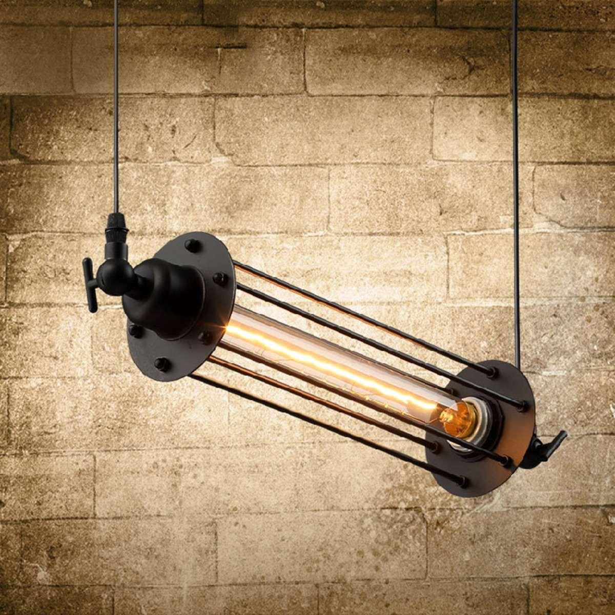 Industrial Retro Vintage Flute Ceiling Lamp E27 Hanging Pendant Light Cafe Bar Restaurant Indoor Lighting Decor AC 110-240V loft vintage edison glass light ceiling lamp cafe dining bar club aisle t300