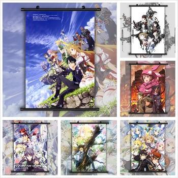 Sword Art Online Anime Poster Style Anime manga wall Poster Scroll недорого
