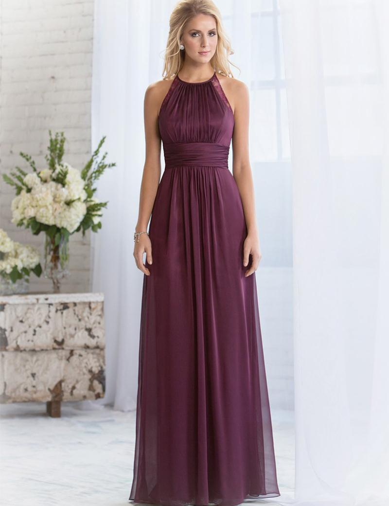 plum dress for wedding custom made bridesmaid dress with lace 2017 6644