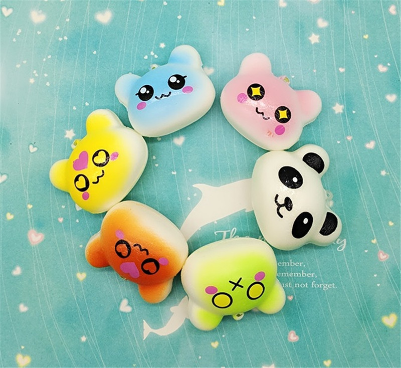 Automobiles 4cm Mini Squishy Slow Rising Jumbo Lanyard Squishy Slow Rising Steamed Bread Panda Squeeze Lanyard For Keys Groot Phone Strap