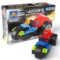 Super hero spider superman avenger tempestade velocidade luta montado blocos de construção de brinquedos presentes de aniversário 6006
