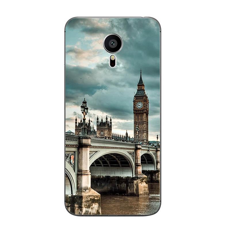 For Meizu MX4 MX5 MX6 Pro 5 6 Phone Case M1 M2 M3 Note MEILAN E Mini Shell Transparent Cover Soft Silicon Railway Pattern Skin