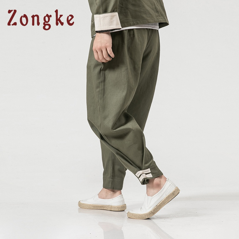 Men's Clothing Pants Orderly Zongke Chinese Style Loose Pants Men Jogger Japanese Streetwear Cargo Pants Men Trousers Hip Hop Joggers Men Pants 2019 Spring