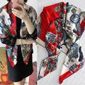 110x110cm 100% Silk Printing Square Scarf Women Spring Summer Scarves Designer Scarf Shawls and Wraps ST