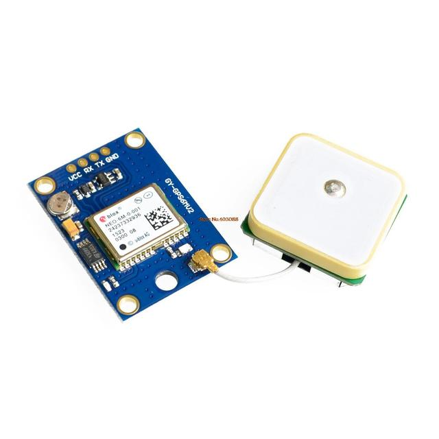 ! GY-NEO6MV2 new NEO-6M GPS Module NEO6MV2 with Flight Control EEPROM MWC APM2.5 large antenna