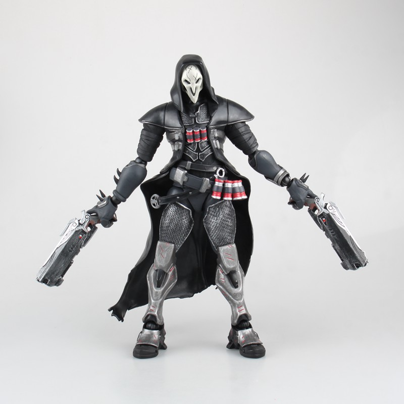 Free Shipping 11 Game OW Reaper Gabriel Reyes HC Ver. Boxed 28cm PVC Action Figure Collection Model Doll Toy Gift free shipping 10 game tychus findlay boxed 24cm pvc action figure collection model doll toy gift
