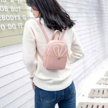 Mini Backpack Women 2019 Rabbit Ear Shoulder Bag Female Cute small Crossbody bag for Teenage Girls fashion bag pack