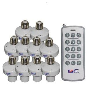 Image 2 - 1/2/3/4 * E27 Kablosuz Uzaktan Kumanda Işık Lambası taban oN/off Anahtarı Soketi tutucu rc akıllı cihaz 110V 220V