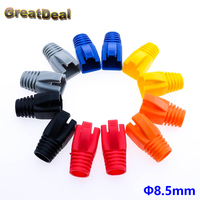 50 100x Colorful Cat6a Cat7 RJ45 Plug Ethernet Network Cable Strain Relief Boots RJ45 Plugs Socket