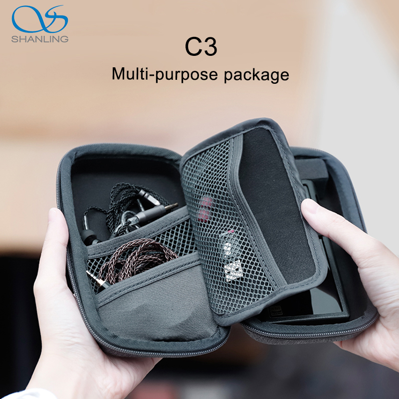 SHANLING C3 Storage Box for Portable Players M0 M1 M3S M5S Anti-pressure Multi-purpose Package makeup brushes