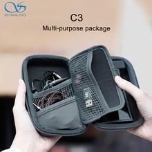 SHANLING صندوق تخزين C3 ، حزمة متعددة الأغراض مضادة للضغط للسماعات المحمولة M0 M11 M6 PRO