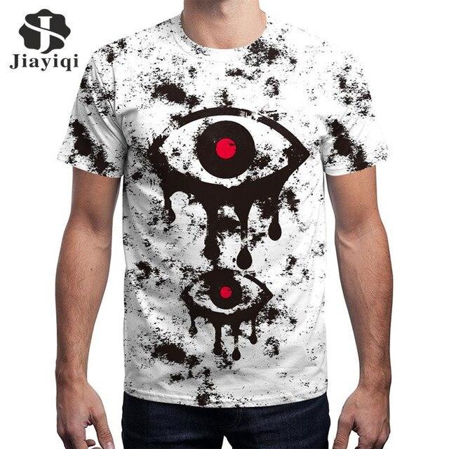 JIAYIQI 2018 Women s T-shirt Fashion 3D Tshirt Short Sleeve Tee Shirt Funny  Red Eyes Printed Tops Tees Women Men Clothing 3XL 57f68aecaa
