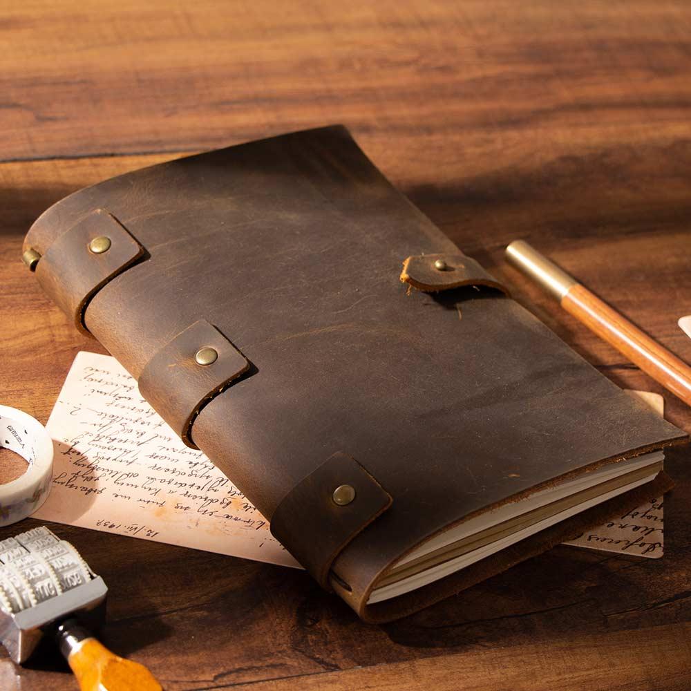 Handmade Vintage Blank Diaries Journals notebook note book genuine leather Cowhide Diary Journal Sketchbook Planner school