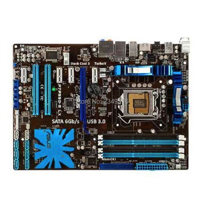 Für Asus P7P55D-E LX Desktop Motherboard P55 Sockel LGA 1156 i3 i5 i7 DDR3 16G ATX Original Verwendet Mainboard