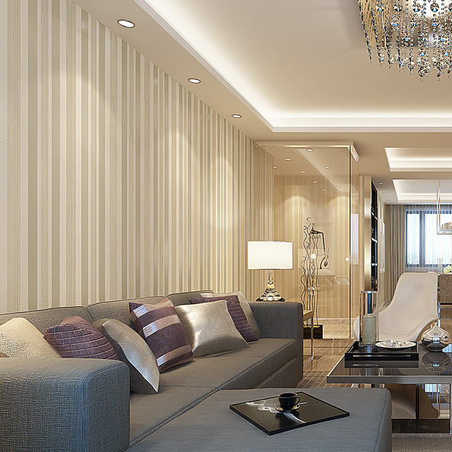 Comprar cl sica 3d moderno papel pintado de rayas verticales wallpapers sal n - Papel pared salon ...