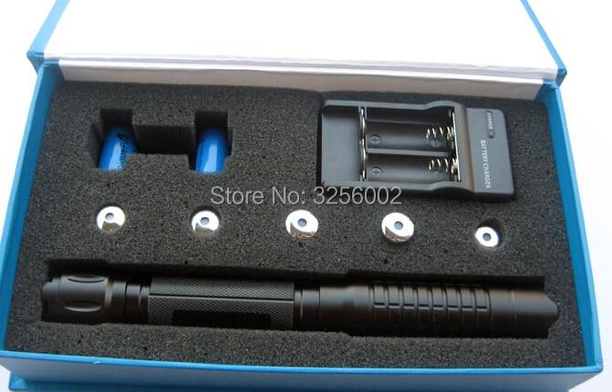 Super Puissant! 500000 m 450nm Bleu pointeur laser lampe de Poche allumette/ballon/bois sec/cigarettes Lazer Torche Chasse + cadeau