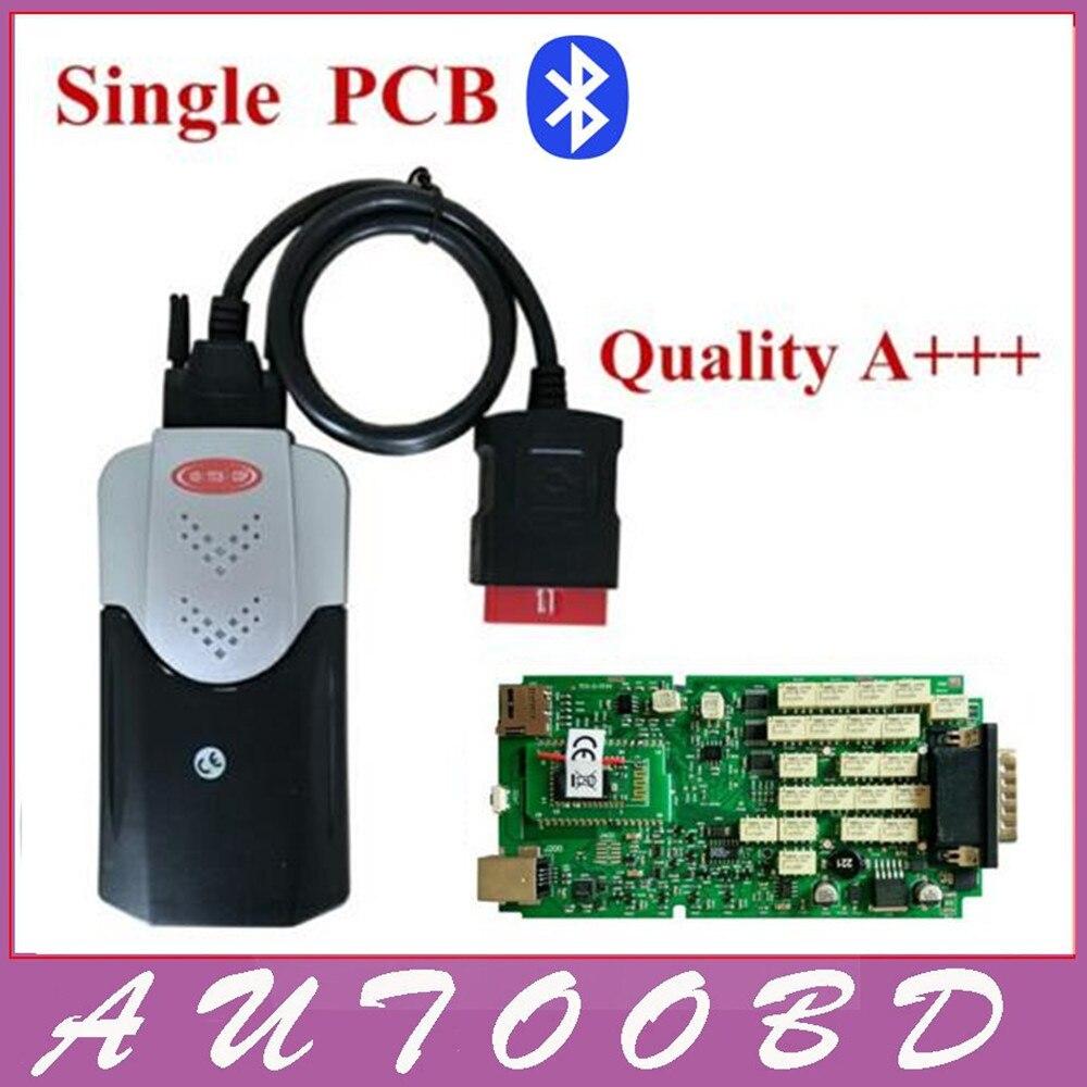 Professionnel Universel Nouvelle Forme VD TCS CDP Bluetooth Multi-langue V2014.R2 Keygen Logiciel Programmeur Vert Unique Conseil PCB