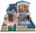 New arrival DIY hut ultra-luxurious indoor pool villa/ Assemble Villa Doll Home/  Wooden Miniature DIY  girlfriend gift