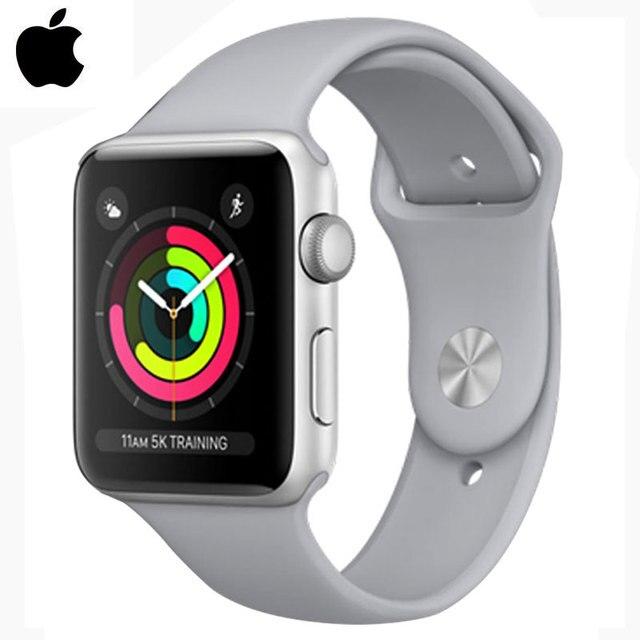 7048b82e308 AppleWatch Apple Série 3 GPS 8 gb 38mm Pulseira De Fitness Rastreador  Passometer Inteligente Sensor de