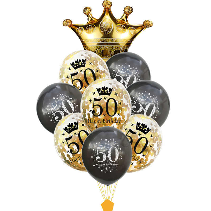 50 Birthday Ballon Deco Birthday 50 Years Balloon 50th Birthday Party Decorations Adult Baloes for 50th Birthday Deco XN