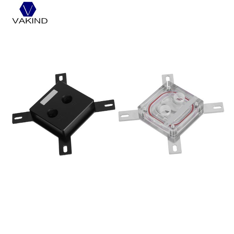 VAKIND G1/4 Thread GPU Computer Water Cooling Radiator Waterblock CPU Radiator Cooler For intel LGA 1150 1151 1155 1156 40 80 12mm aluminium water cooling waterblock heatsink block liquid cooler for cpu gpu laser head industrial control cabinet