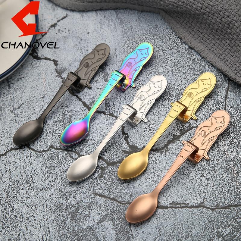Long Handle Spoons Candy Teaspoon Tableware Kitchen Supplies Coffee Spoon