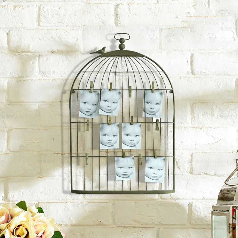 Aliexpress Buy Birdcage Shabby Chic Memo Notice Board Photo Awesome Birdcage Memo Board