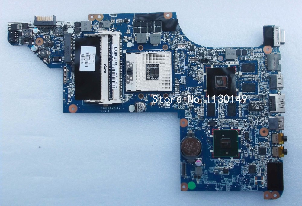630278 001 615278 001 Free shipping for HP DV6 DV6T motherboard 592816 001 DA0LX6MB6H1 mainboard 100