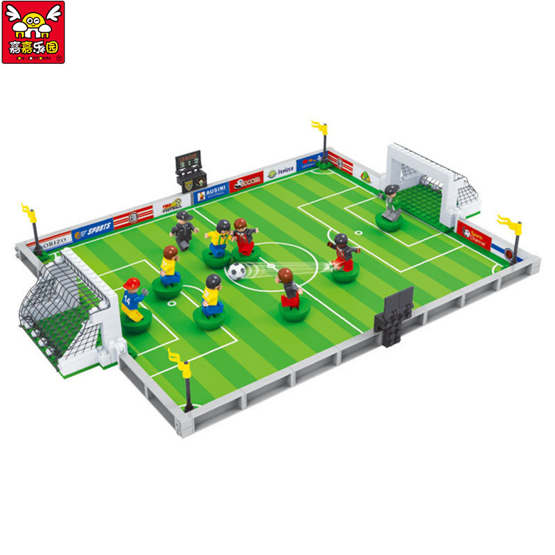 Brand Compatible City Football Field Model Building Kit Kids Educational Bricks Blocks World Cup Hegemony Figures Toys contesting hegemony
