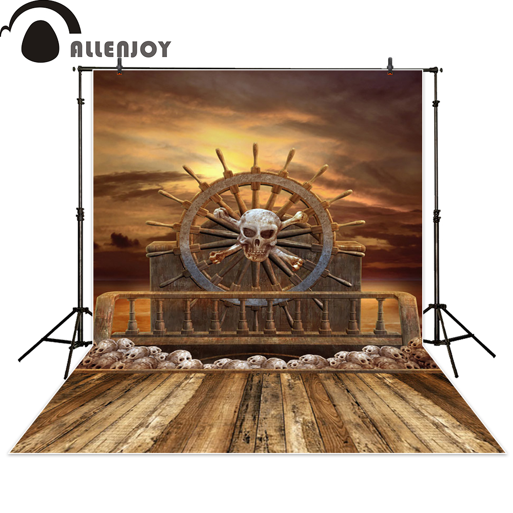 Allenjoy pirate photo backdrops Skull head rudder ship wood photography studio props photobooth photocall newborn fantasy allenjoy photographic background pink stage halo glitter backdrops photobooth fantasy props cloth fabric photo studio