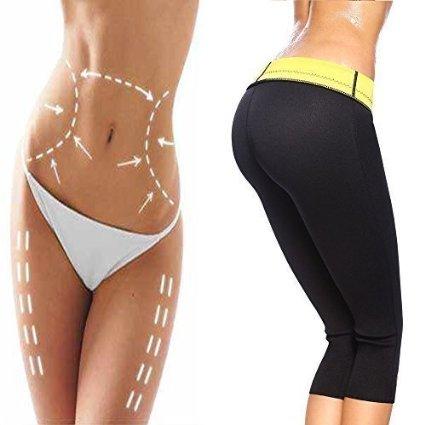 2016 mais novo Das Mulheres Emagrecimento Calças Capris Quente Thermo Neoprene Suor Sauna Shapers Do Corpo Yoga Esporte Leggings