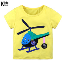 New 2020 Summer Boys and Girls T-shirt for Kids Cartoon Print Clothing Baby Clothes Children T-shirt Cotton Top Tees girls cartoon and letter print top