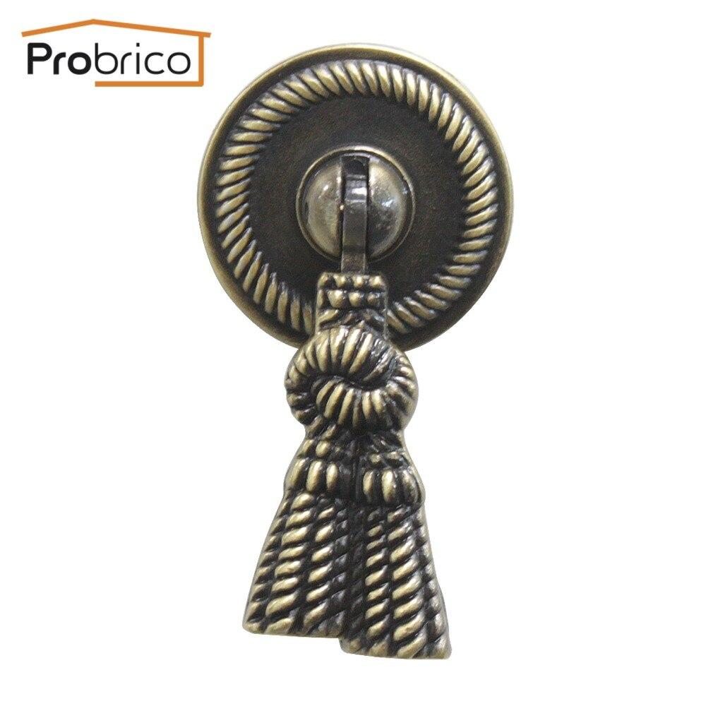 Probrico 20 шт. PSF373AB сплава цинка античная бронзовая старинные мебель антикварная ящика ручки кухонный шкаф ручки тянет